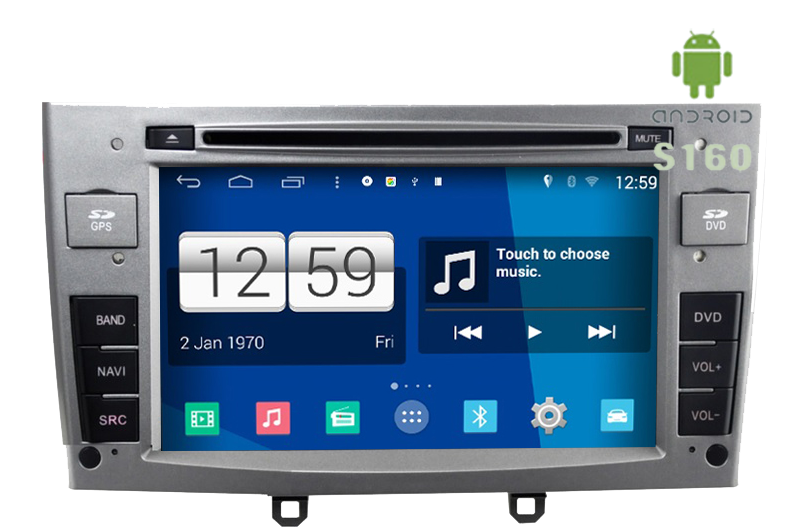 peugeot 308 radio dvd gps android hd quad core peugeot. Black Bedroom Furniture Sets. Home Design Ideas