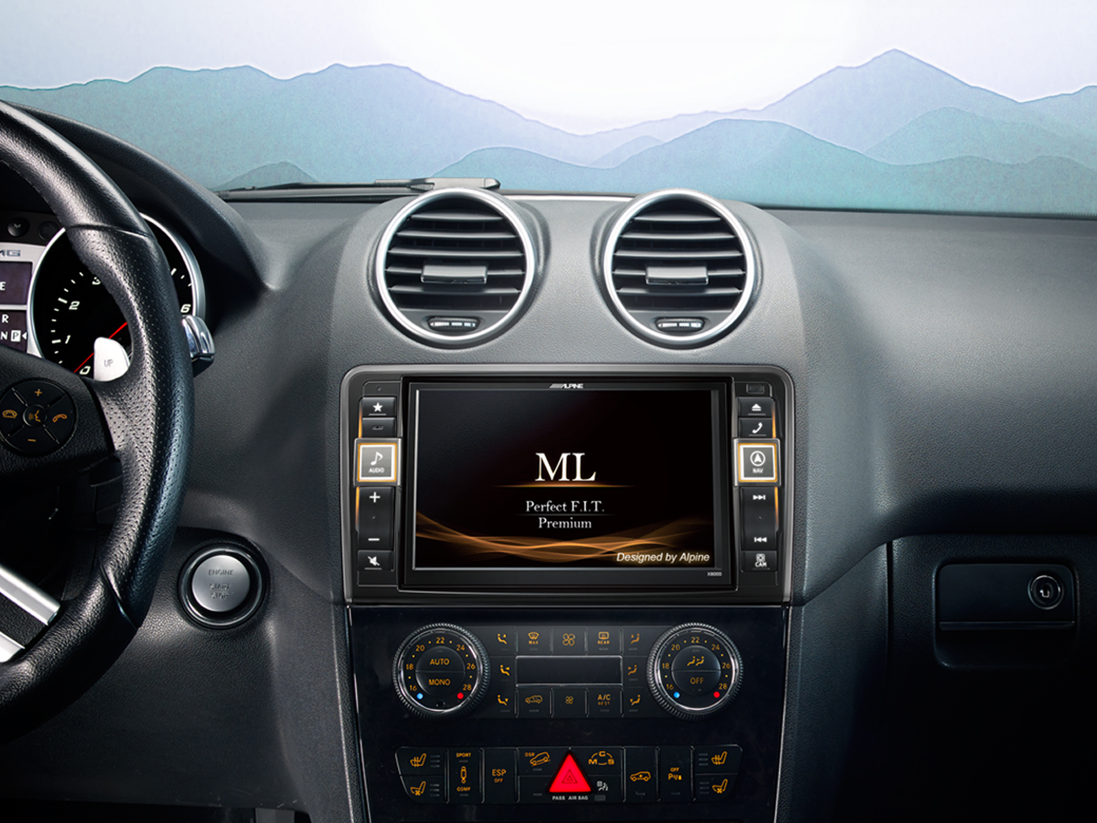 Alpine x800d ml sistema de navegaci n mercedes benz ml y for Antenne autoradio interieur
