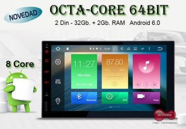 Android Multimedia 2 din 4K Octa Core + Camara Regalo