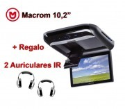 Macrom Monitor Techo 10.2 DVD, SD, iPod y Iphone + Regalo Auricu