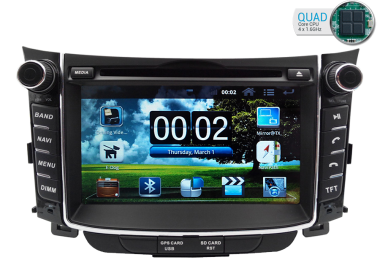 hyundai i30 radio dvd gps android hd quad core hyundai. Black Bedroom Furniture Sets. Home Design Ideas