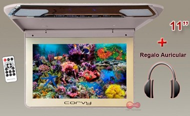 "Corvy MT-1130-HD, Monitor techo 11"" Led + Regalo Auricular"