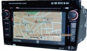 Multimedia equipment with GPS for OPEL. Piano black finished.