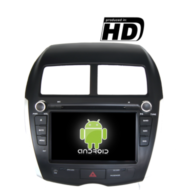 mitsubishi asx radio dvd gps hd android mitsubishi. Black Bedroom Furniture Sets. Home Design Ideas