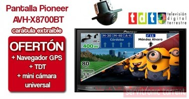 pioneer 2din avh x8700bt m dulo gps tdt c mara gps. Black Bedroom Furniture Sets. Home Design Ideas